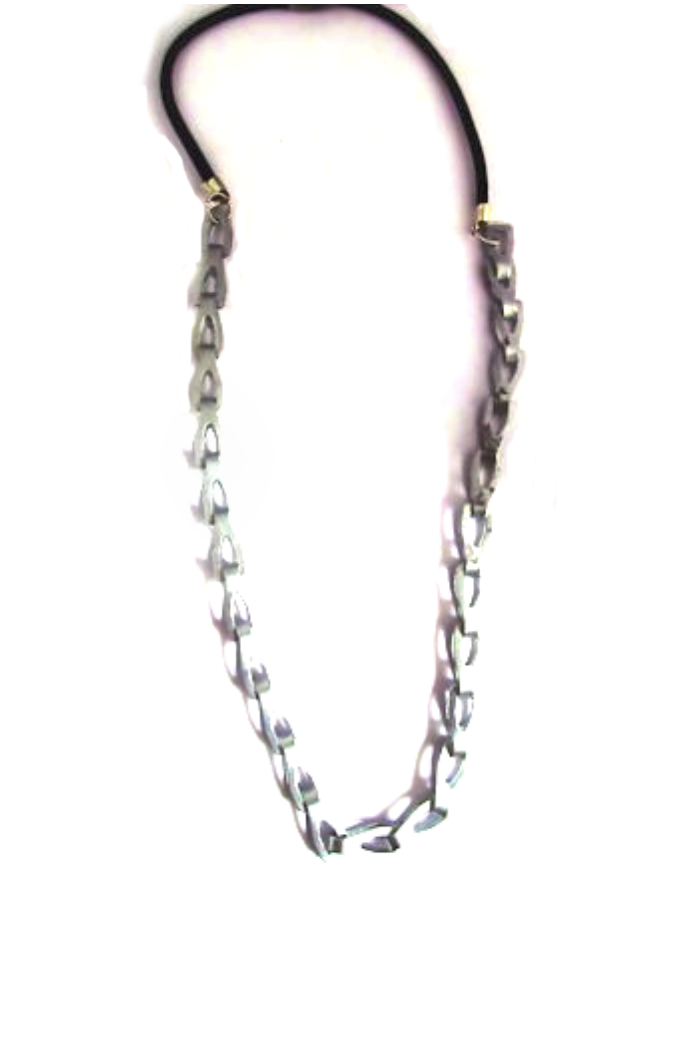 bike chain with leather necklace