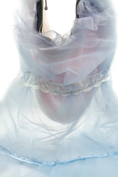 Blue tulle hobo bag resembling a nightgown