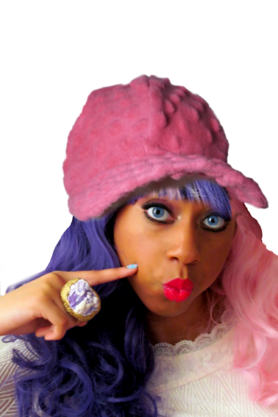 pom pom pink baseball cap