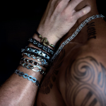 View of men bracelets
