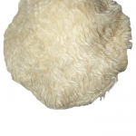 polar bear vegan fur hat_back