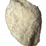 Polar bear vegan fur beret side view