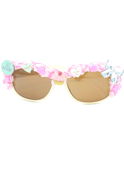 Eat desert button and various sweet theme decora sunglasses
