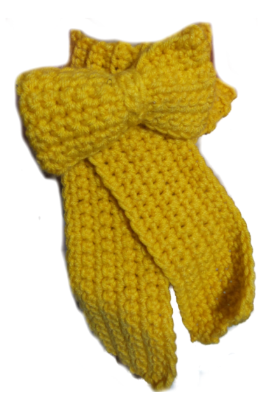 Bow shaped scarf