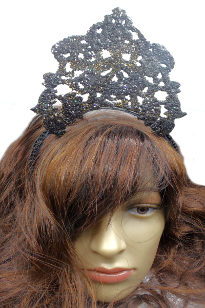 High crown 3d printed glitter hairpiece