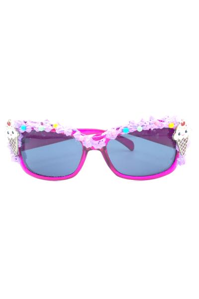 Tce cream cones adorn pink sunglasses