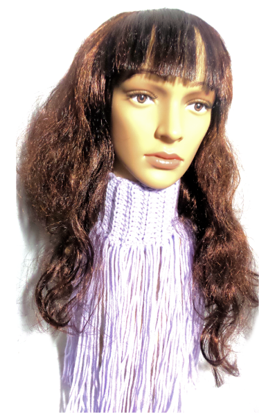 longe fringe scarf with velvro attachment