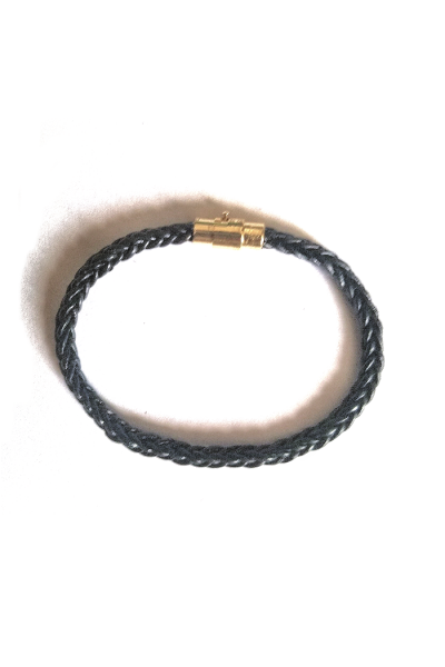 simple cable braid leather bracelet