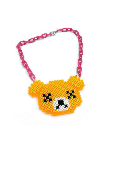 video game inspired dead teddy bear necklace