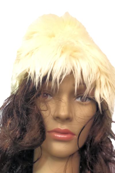 shaggy faux fur slouchy beanie