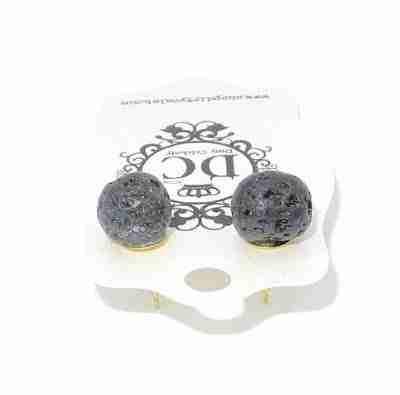 lava rock stud earrings