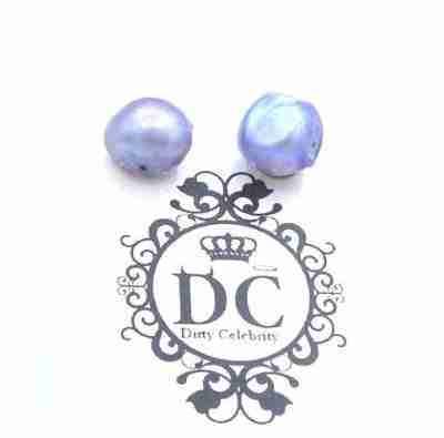 stormy gray pearl stud earrings
